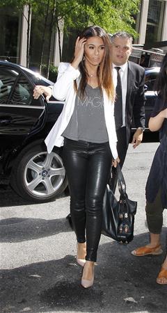 Emmanuelle Chriqui heading to SiriusXM studios in New york City August 18, 2014