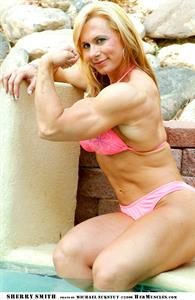 Sherry Smith in a bikini