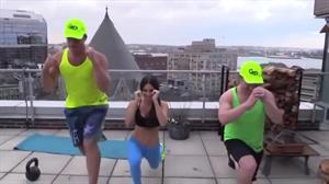 Jen Selter leads a workout
