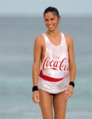 Adriana Lima – beach shoot candids in Cancun 12/2/13