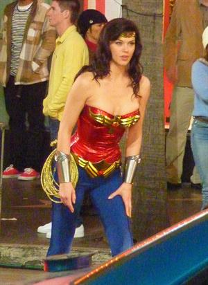 Adrianne Palicki on Wonder Woman set 3/29/2011