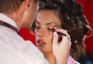 Alessandra Ambrosio backstage Victoria's Secret Fashion Show 2010