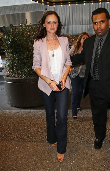 Alexis Bledel MTV Seven studios in New York City 11/4/2011