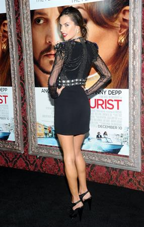Alessandra Ambrosio world premiere of The Yourist at the Ziegfeld Theatre on December 6, 2010