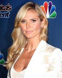 Heidi Klum at Americas Got Talent post show red carpet on August 13, 2014
