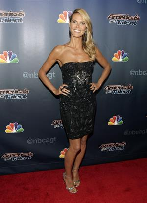 Heidi Klum at Americas Got Talent season 9 post show red carpet event on August 6, 2014