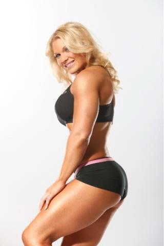 Beth Phoenix in a bikini - ass