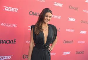 Emmanuelle Chriqui Crackle Original Series Cleaners and Sequestered Summer premiere celebration August 14, 2014