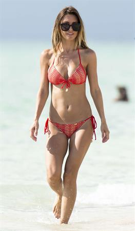 Audrina Patridge in a bikini in Miami Beach shooting a segment for 1st Look on August 12, 2014