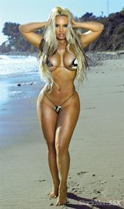 Coco in a see-through swimsuit and one of the smallest bikinis ever!