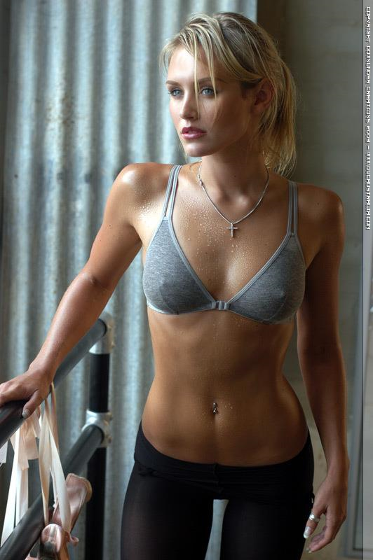 Nicky Whelan in lingerie - breasts