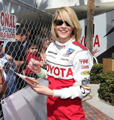 Jenna Elfman 8th Annual Toyota Pro/Celebrity Race-Practice Day 09-04-2013
