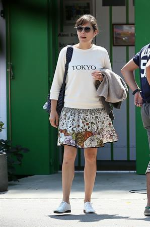 Marion Cotillard strolling down the streets of Cap-Ferret August 12, 2014
