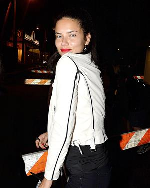 Adriana Lima goes to the Rihanna And Eminem Concert August 7, 2014