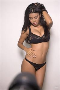 Kendra Roll in lingerie