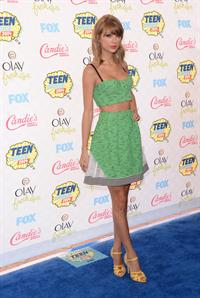 Taylor Swift attending the 2014 Teen Choice Awards in Los Angeles on August 10, 2014