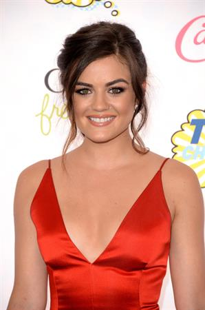 Lucy Hale attending the 2014 Teen Choice Awards, Los Angeles, August 2014