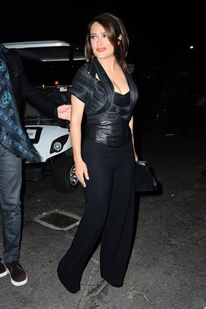 Salma Hayek at Jay Z and Beyonce concert @ Rose Bowl August 2, 2014