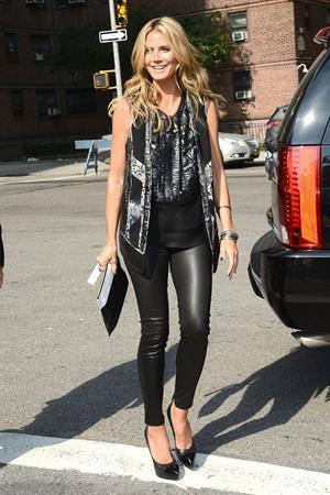 Heidi Klum arriving at BCBG Max Azria Show in New York City on September 5, 2013