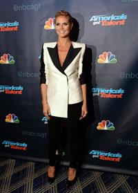 Heidi Klum attending America's Got Talent Season 8 at Radio City Music Hall in New York on August 7, 2013