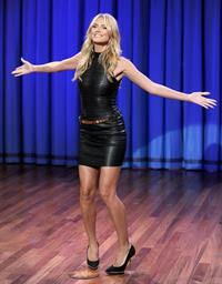 Heidi Klum on Late Night with Jimmy Fallon in New York on September 4, 2013
