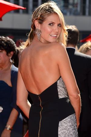 Heidi Klum attending the Creative Arts Emmy Awards in LA on September 15, 2013
