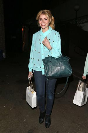 Holly Willoughby Riverside studios in London, Feb 27, 2013