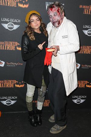 Sarah Hyland 5th Annual LA Haunted Hayride VIP Premiere Night in Los Angeles, October 10, 2013
