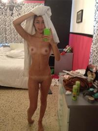 Anonymous taking a selfie and - pussy and nipples