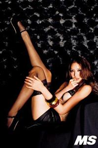 Bianca Bai in lingerie