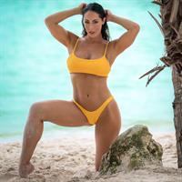 Hope Beel in a bikini
