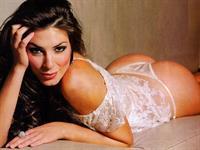 Eugenia Lemos in lingerie