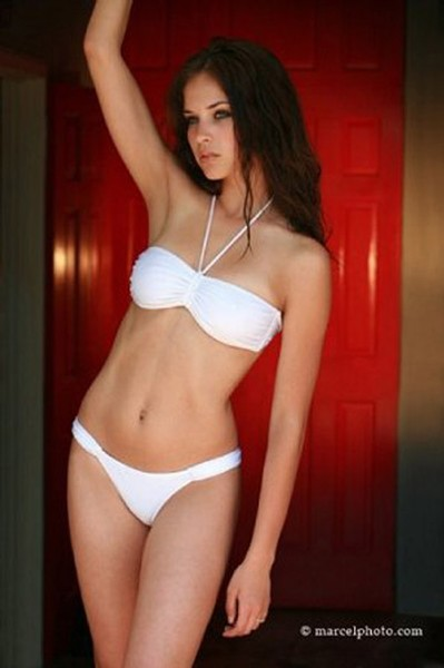 Alexis Knapp in a bikini