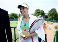 Sabine Lisicki During a Practice Session Wimbledon Lawn Tennis Championships in London 05.07.13