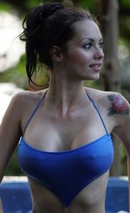 Jessica-Jane Clement in a bikini