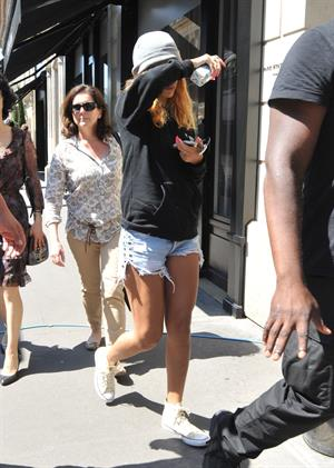 Rihanna arriving at her hotel in Paris on June 7, 2013