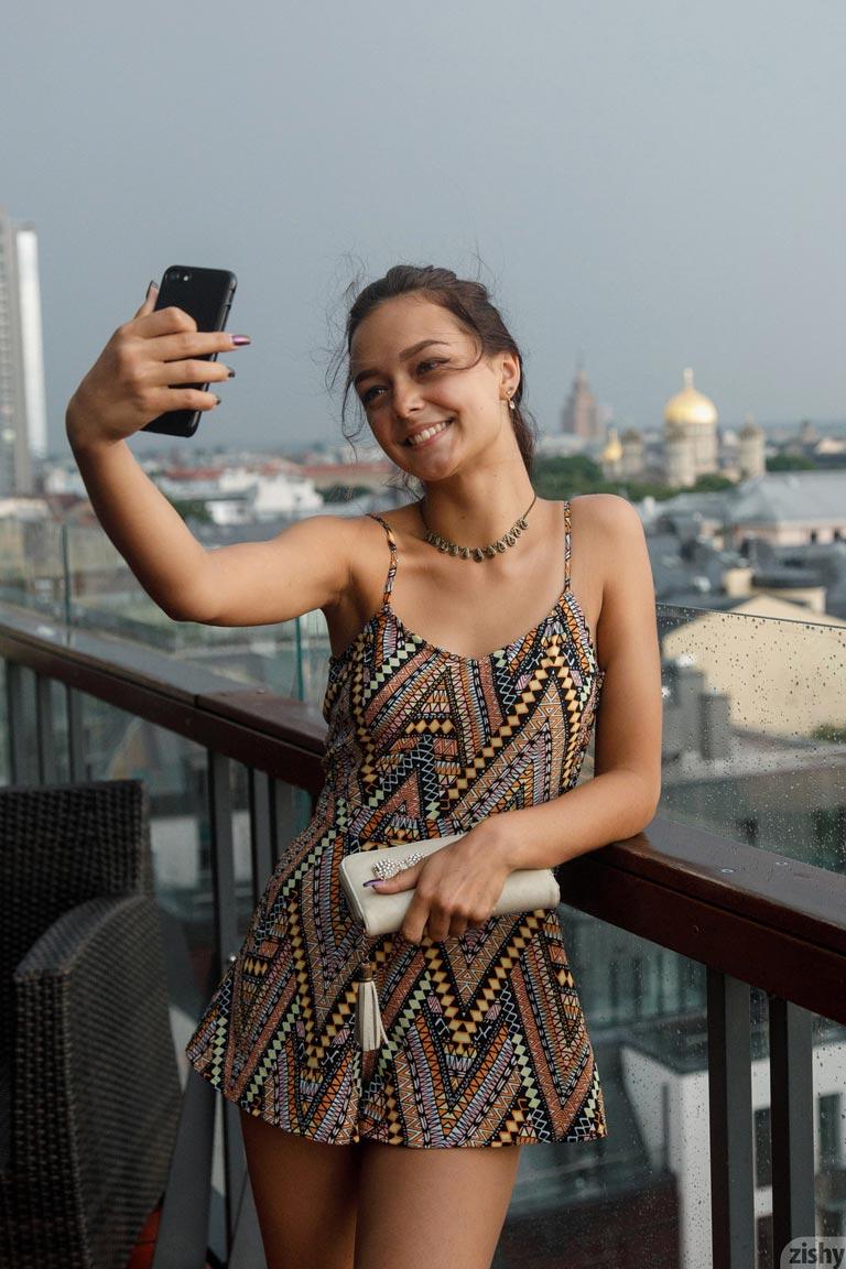 Karina Baru Pictures. Slava in a Summer Dress. Hotness