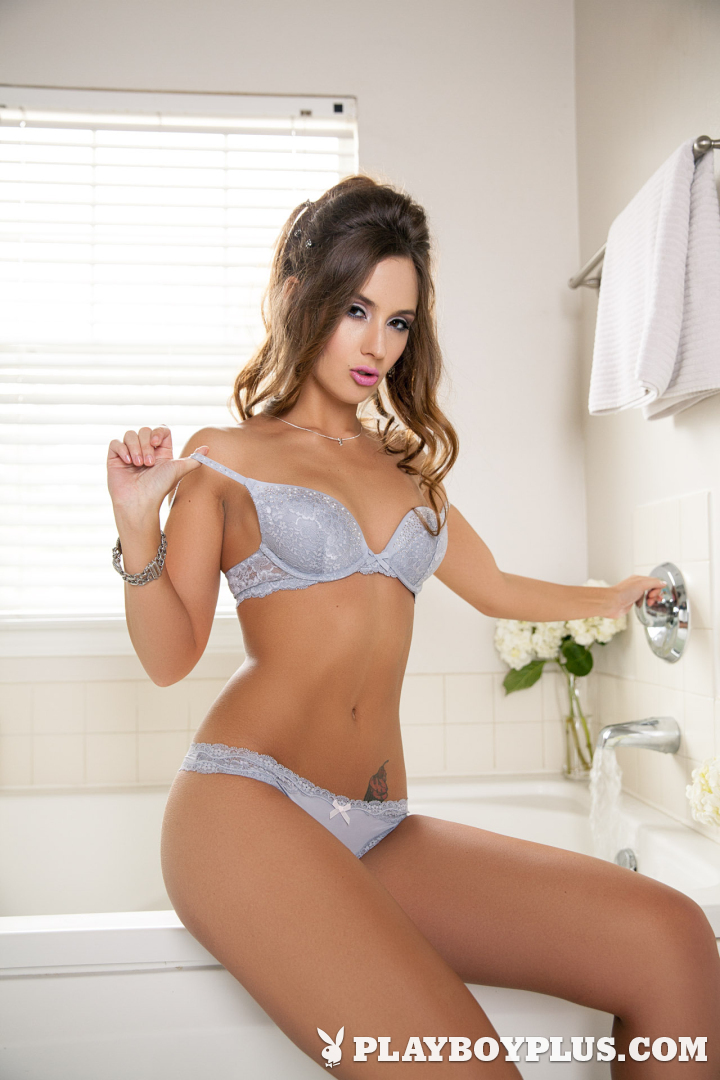 Playboy Cybergirl - Kylie Cupcake Morgan Nude Photos & Videos at Playboy Plus! (in a tub with white roses)