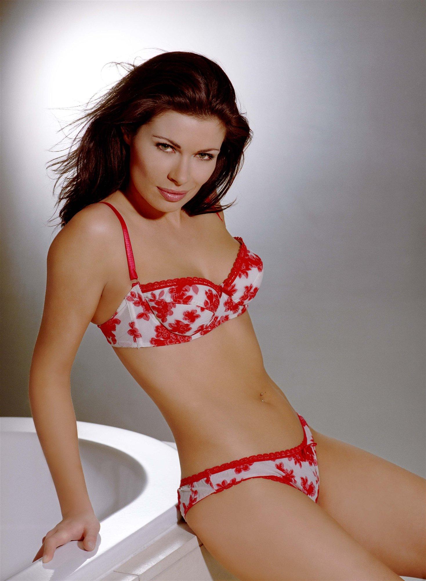 Alison King in a bikini