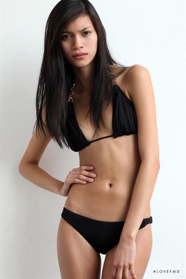 Juana Burga in a bikini