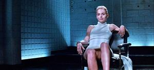 Sharon Stone pussy shot from Basic Instinct
