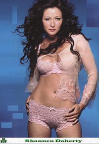 Shannen Doherty in lingerie