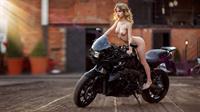 Alexandra Smelova Naked on a bike