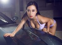 Huang Ke in a bikini