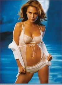 Josie Maran in lingerie