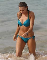 Indiana Evans in a bikini
