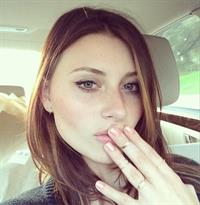 Aly Michalka taking a selfie