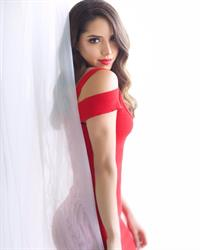 Silvy Araujo in Red Dress