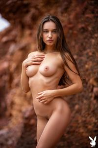 Gloria Sol nude playboy photo shoot showing her pussy, ass, and boobs.