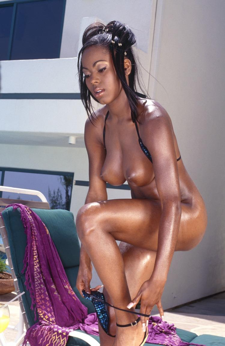 Very hot black girl with big tits gets it good from behind